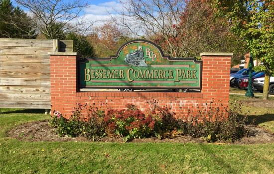 Bessemer Commerce Park Fall Sign by EPACC